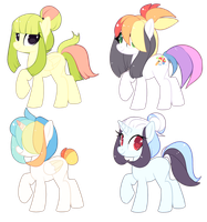 4 PONY BATCH - OPEN by AdoptablePonyShop