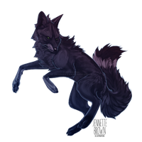 Dark Arctic Fox by sugarpoultry