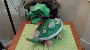 Pokemon Torterra Papercraft 5 by devastator006