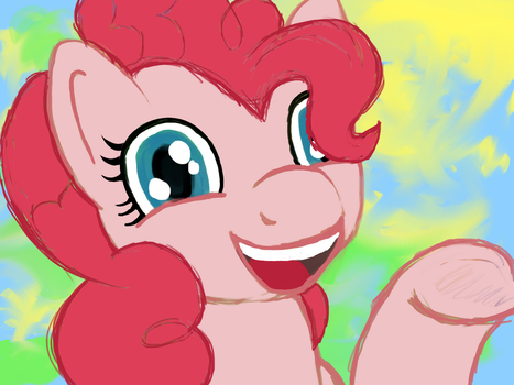Pinkie Pie Just Cant Stop Smilin' by meganschmidt