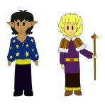 Tyr and Will stickers by PuddingValkyrie