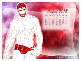 Glossy Pipo's Calendar 2012 - August by Luisazo
