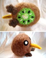 Kiwi Bird Needle Felt by P-isfor-Plushes