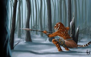 Siberian tiger hunter by Corwin-Cross