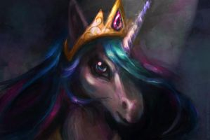 Princess Celestia by bloodrizer