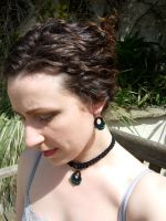Crochet Necklace and Earrings1 by knerdy-knits