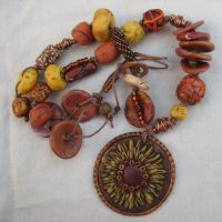 Sunflower Pendant Necklace by desertwind56