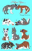 Tanzanite X Swiftheart Adoptable Pups by liongirl2289