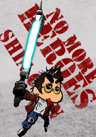 Shin Chan as Travis touchdown by noodledude
