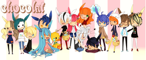 all my character for easter by sekainokyuu