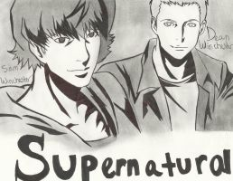 Supernatural the Animation *scanned* :D by MidoriArainai