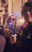 Luna Lovegood Cosplay (with Harry Potter) by GlowingSnow