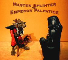 Splinter vs. Palpatine by Feinobi