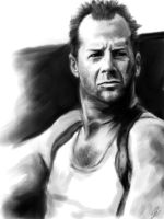 Bruce Willis drawing by Aquila--Audax
