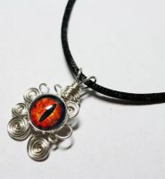 Wire Wrap Eye of Sauron LOTR Pendant by Create-A-Pendant