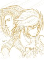 Vaan and Laguna - Dissidia by SiegfriedLied