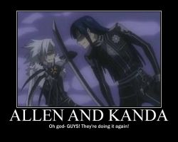 Allen and Kanda by toraseishou