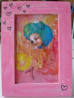 Custom frame pink hearts by daqueen-one