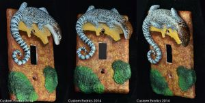 Timor Monitor Lizard Light Switch Plate by CustomExotics