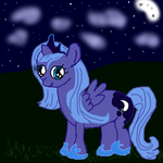 Woona at night by Kumorisan