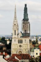 Zagreb Cathedral, Croatia 1 by wildplaces