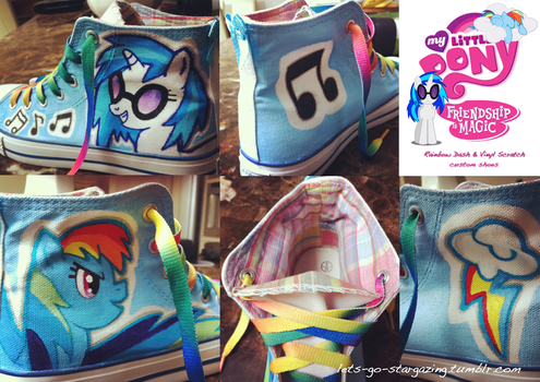 Commission: Dash and Vinyl Scratch Shoes by XxPonyPuffPrincessXx