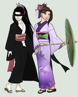 Yukata Request: Tausha and Mana by JBarnzi88