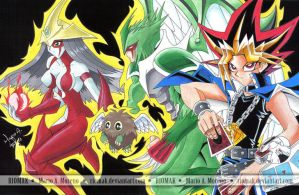 Yugi and Monsters by Riomak