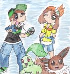 Pokemon: Luigi and Daisy by IgotTheMagicHands