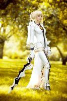 walking - saber bride cosplay by SelenaAdorian