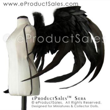 eProductSales Sera BJD Feather Angel Wings by eProductSales