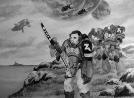 Storm Riders - Warhammer 40.000 grey by Metalheank