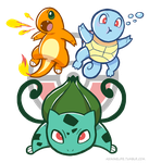 Starter Pokemon by Torogoz