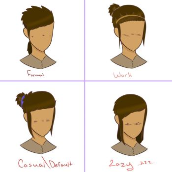 Vincent Hair Style Ref Sheet by Lu-Draws