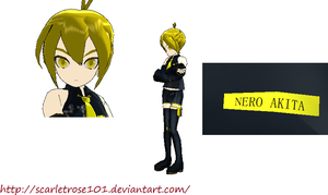 MMD Old Comer: Nero Akita + DL by scarletrose101