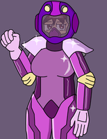 The Shiny Armored Suit by JDogindy