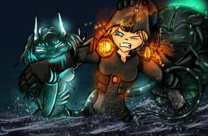 Pacific Rim: Cherno's fight. by AtomicWarpin