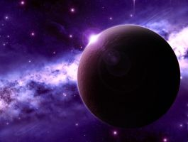 Planet in space by DimaGreyl