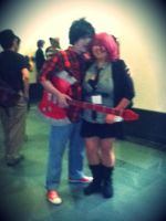 Me and Marshall Lee by neon-talon-claw