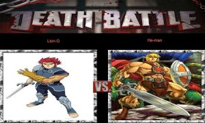 DEATH BATTLE Idea Lion-O VS He-Man by JefimusPrime