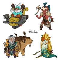 Dota 2 - Mini Radiant AGI heroes part 3 by spidercandy