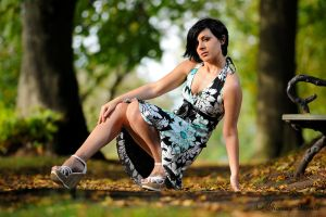 Daniela at the park by LeThoumy