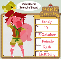 Pokemon Crossing App?: Sandy by sweetkimothy