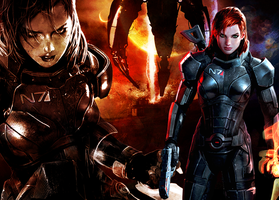 ME3: Jane Shepard versus The Reapers by suicidebyinsecticide