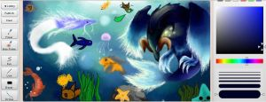 My water bird again :D by Xnessax