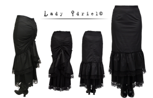 steampunk black skirt stock by darkadathea