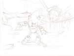 Sonic CD Sketch by MeetJohnDoe