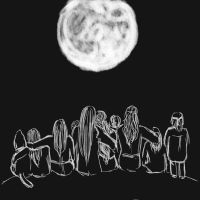 Watching the moon with family by Lucinda-Ithil