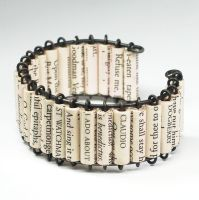 Paper Bead Jewelry- Shakespeare Cuff Bracelet by Tanith-Rohe