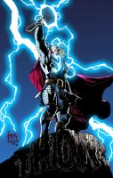 Thor colored by Nightblade by wrathofkhan